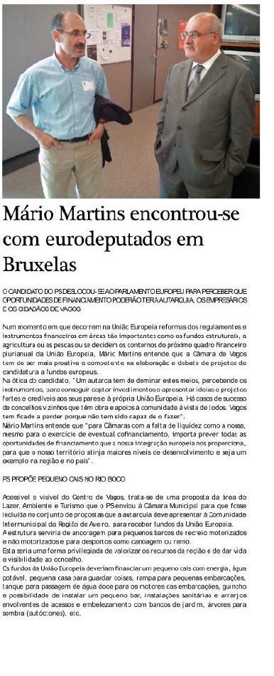 Mário Martins encontrou-se com eurodeputados socialistas em Bruxelas
