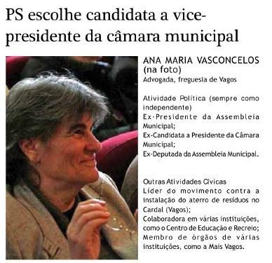 PS escolhe candidata a vice-presidente da câmara municipal
